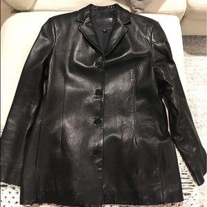 Coach black leather jacket...butter soft ❤️
